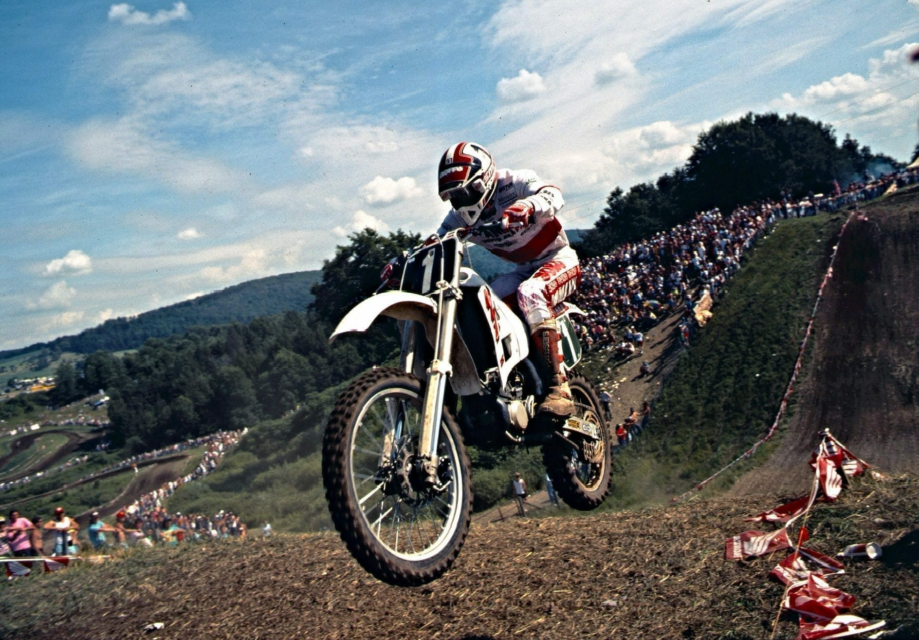 John Van Den Berk at the 1989 Unadilla 250 USGP
