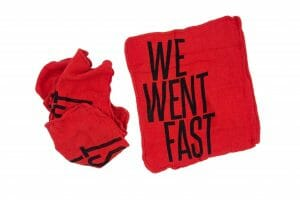 We Went Fast Custom Shop Rag