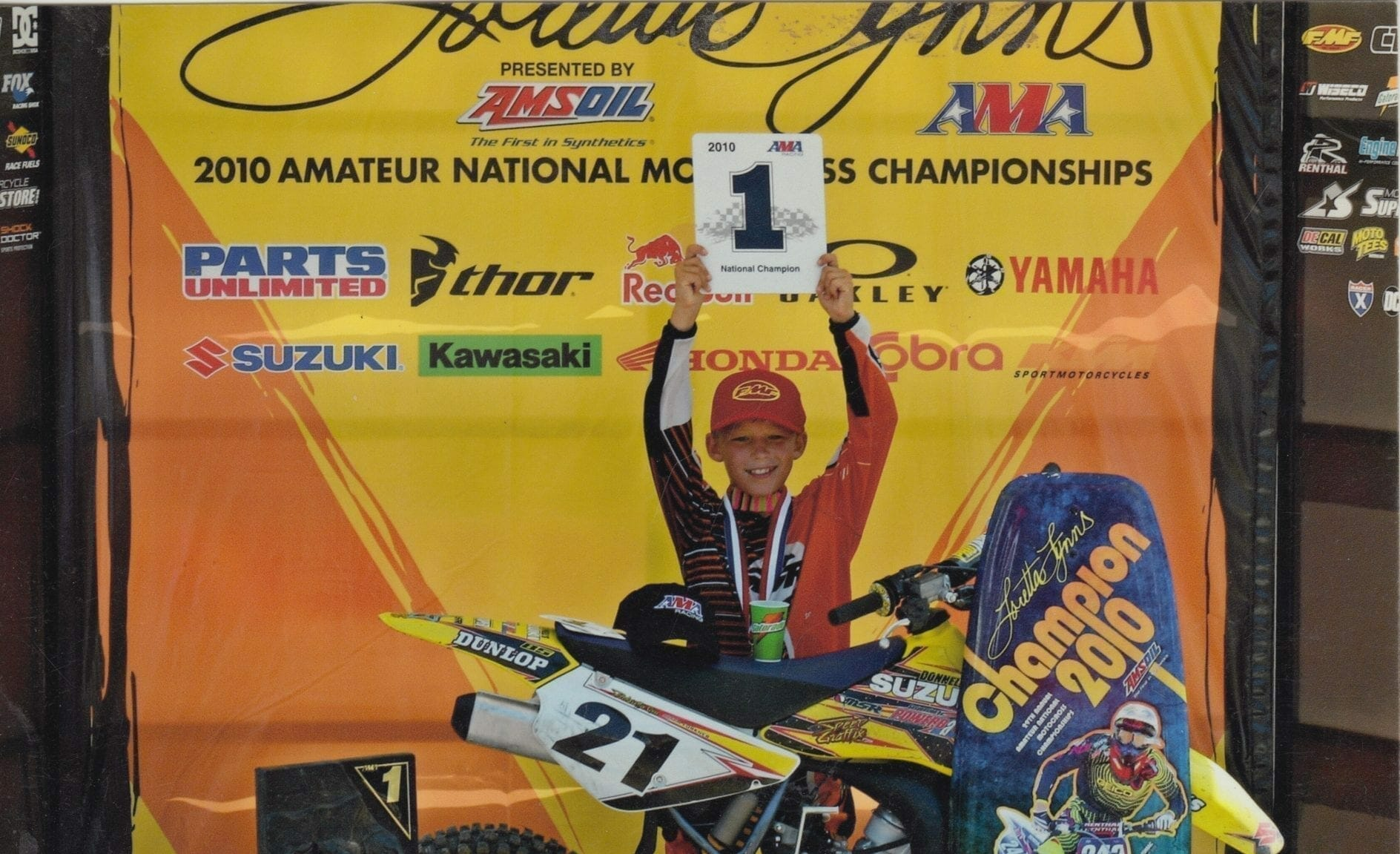 Austin won his first two championships at Loretta Lynn's in 2010. Photo: Forkner family