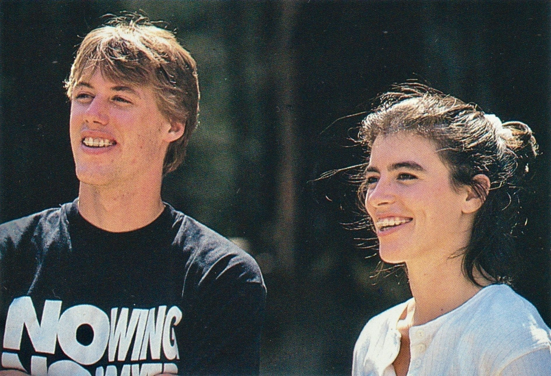 Doug Henry and Stacey Johnstone (before wedding) in 1993. Davey Coombs photo via Inside Motocross