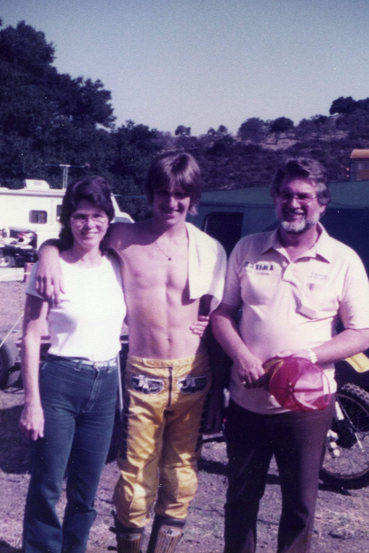 Pat, Ron and Dick Lechien in 1981 - Lechien family photo