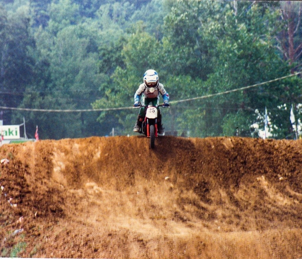 Brett Smith racing at the 1987 AMA Amateur National Motocross Championships
