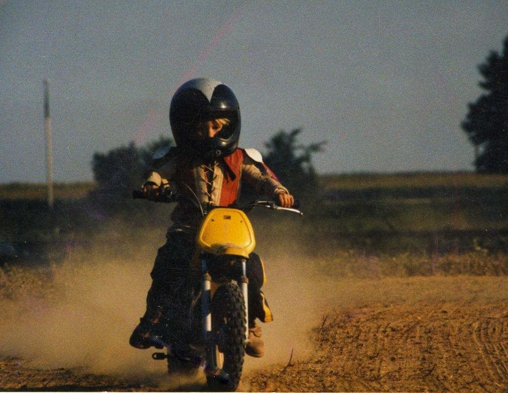 Nicky Hayden on a Yamaha PW50 circa 1986