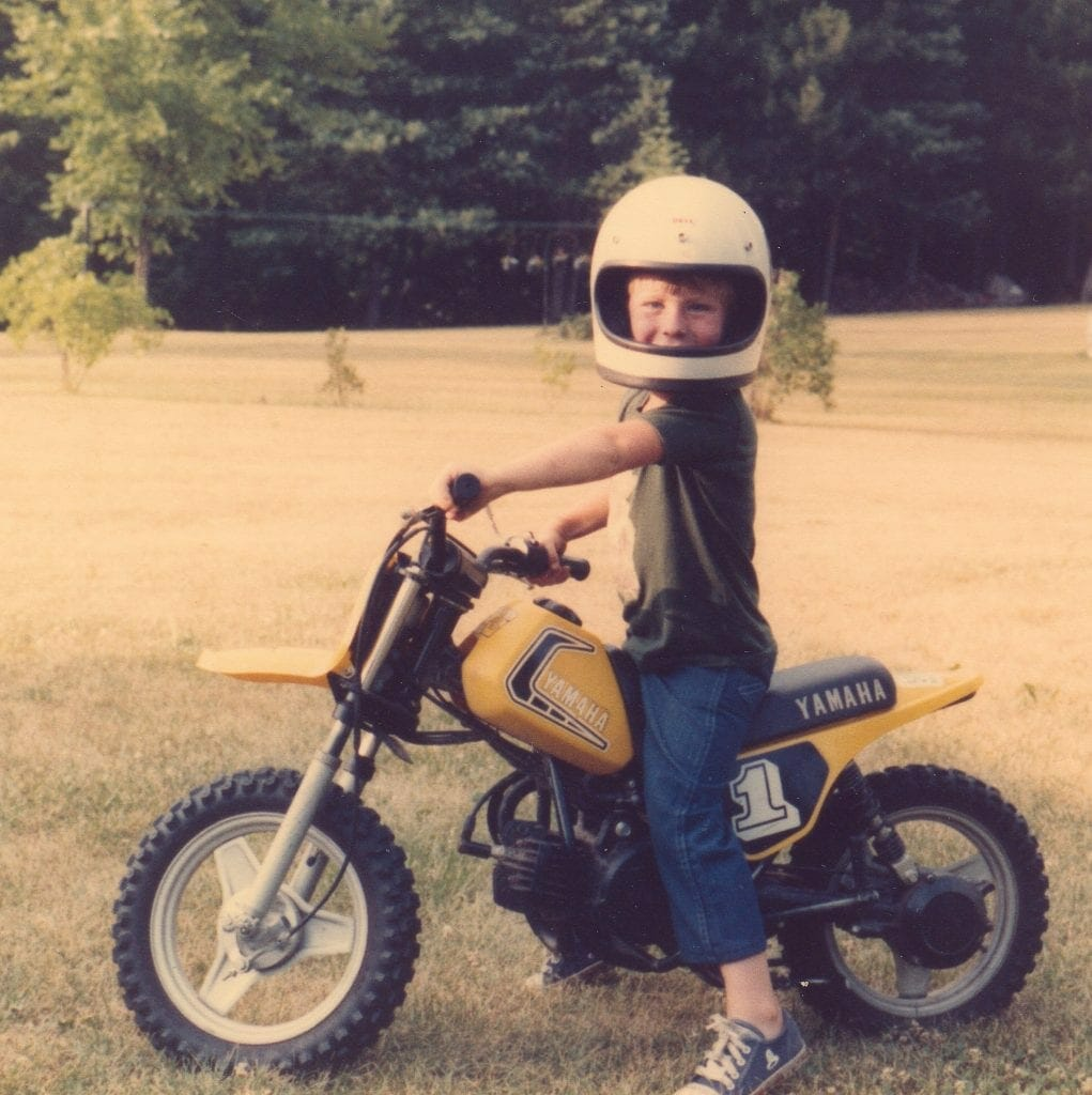 The author on his first first ride, summer 1983