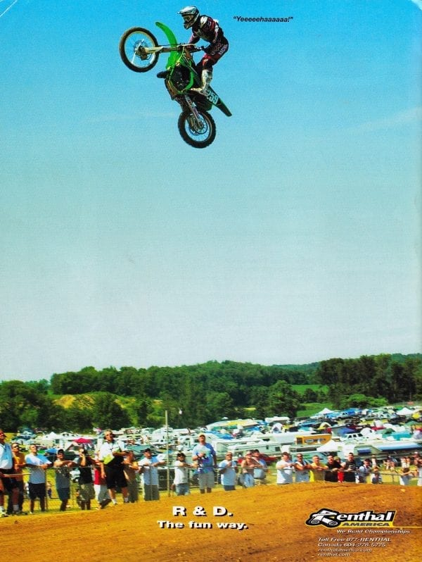 Renthal Ad: James Stewart on LaRocco's Leap, 2002