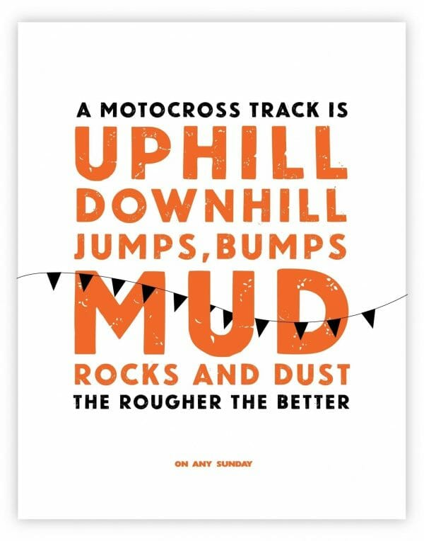 On Any Sunday Quote - Motocross - White