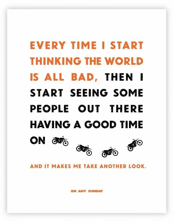On Any Sunday Quote - Good Time - White
