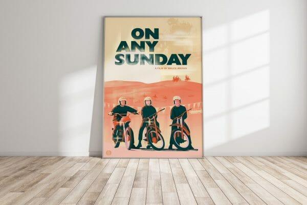 On Any Sunday Movie Poster - Framed