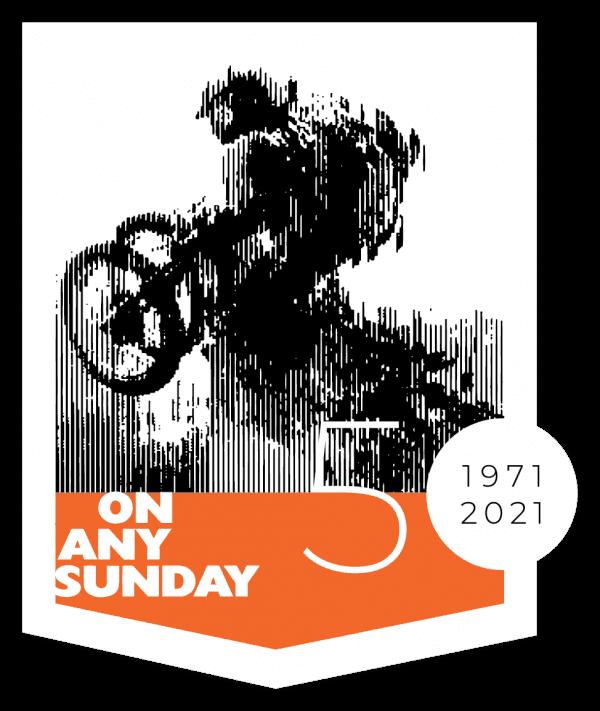 On Any Sunday 50 Sticker