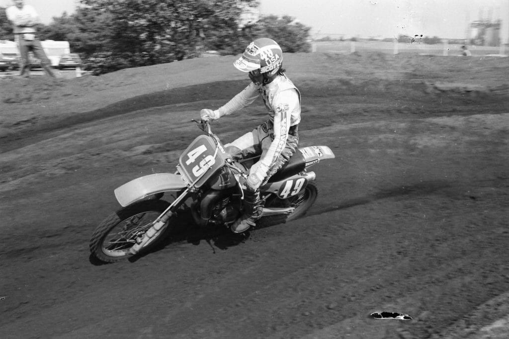 Donnie Hansen at the Trophee des Nations in 1981 in Lommel - Henny Ray Abrams Photo