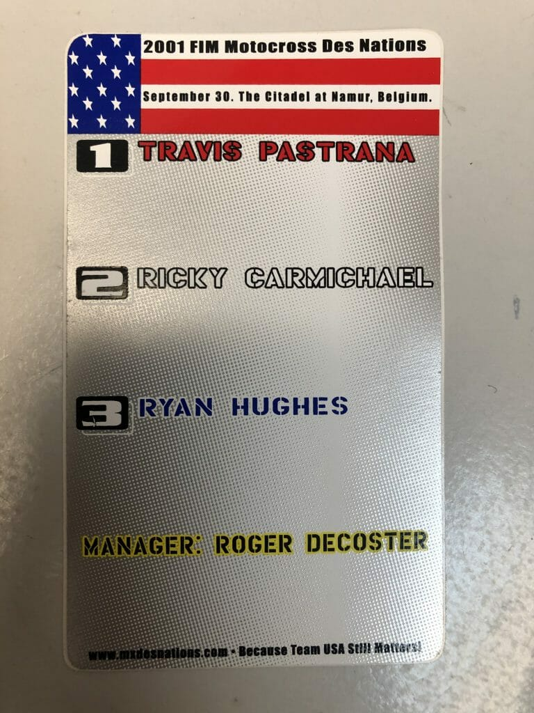 The original selections for Team USA 2001. Throttle Jockey produced these stickers in the summer of 2001 - Matt Davis Photo