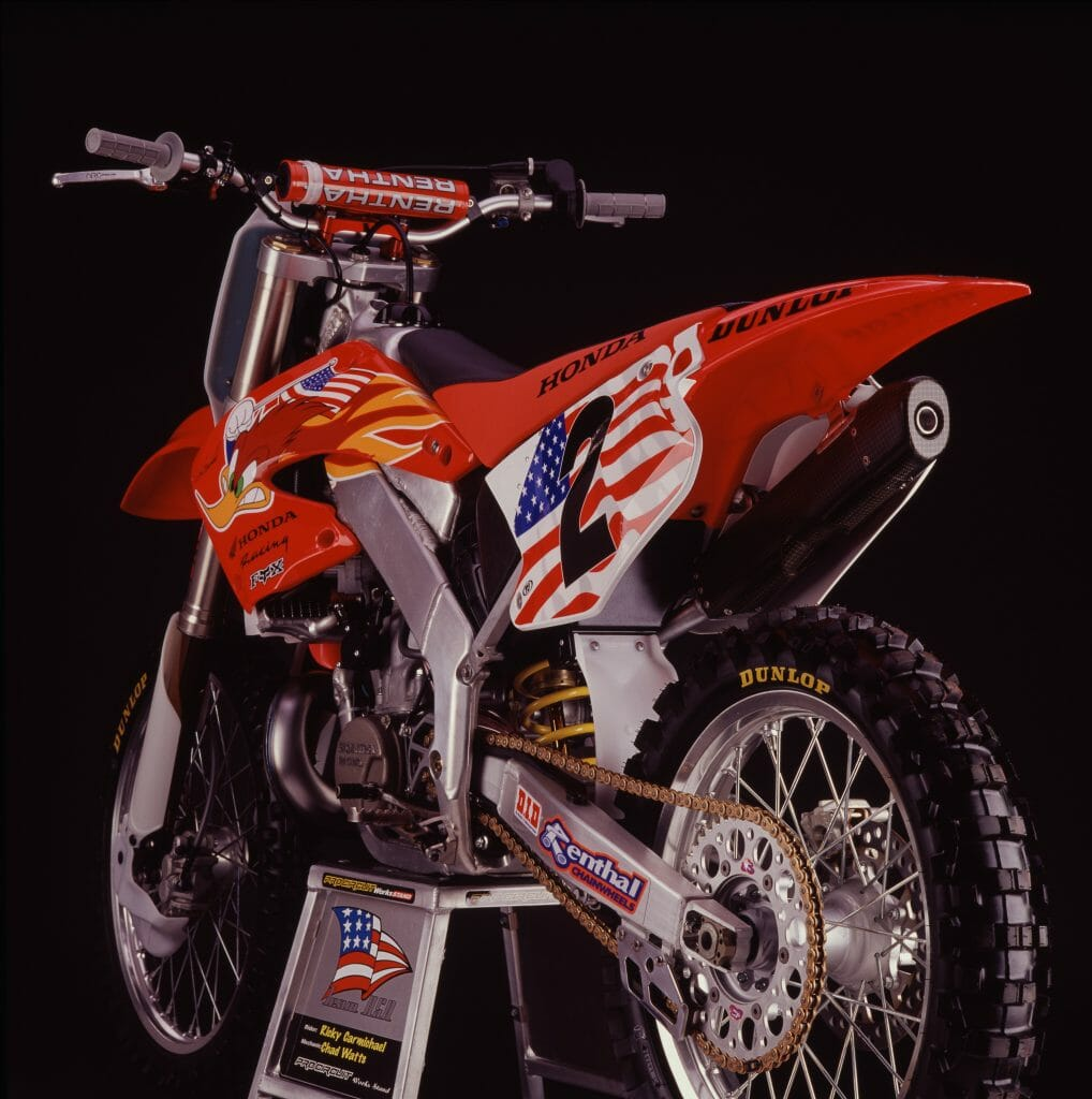 Ricky Carmichael's 2001 Honda CR250R for the Motocross of Nations - Simon Cudby Photo