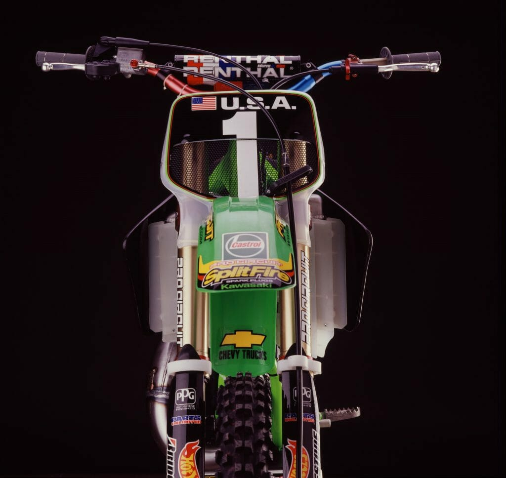 Mike Brown's 2001 Kawasaki KX125 for the Motocross of Nations - Simon Cudby Photo