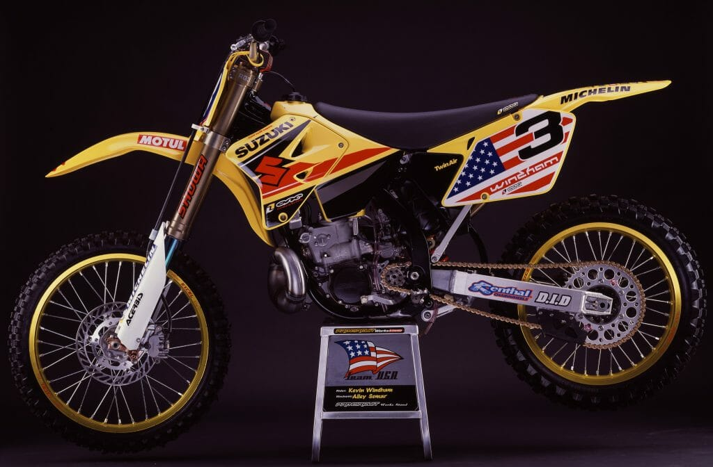 Kevin Windham's 2001 Suzuki RM250 for the Motocross of Nations - Simon Cudby Photo